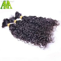 Wholesale- 8A Grade Water Wave Bulk Hair Unprocessed Human Br...