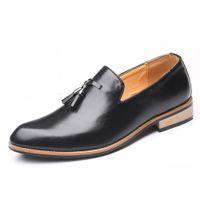 schwarzer Quaste Oxford Loafer Schuhe Männer formale Lederschuhe für Männer italienischer Bräutigam Schuhe Hochzeitskleid 2019 Art und Weise zapatos de hombre fiesta