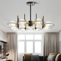 Moderne Glaskugel-LED Kronleuchter für Wohnzimmer Cafe Glanz plafonnier Minimalist Schlafzimmer Kronleuchter Beleuchtung lampadario geführt