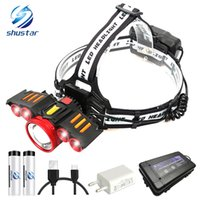 Super bright cool LED Headlamp With Sensor switch USB chargi...