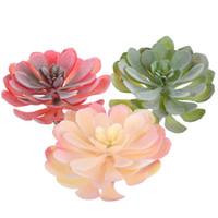 Altura = 14 cm Diámetro = 12 cm grandes plantas suculentas flor de loto artificial para jardín decoración de DIY Plantas Accesorios Wall