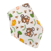 New cartoon printed Cotton Baby Bibs Babador Feeding Smock I...