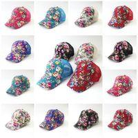 berretto da baseball caldo floreale Ventilato Mesh Cap Snapback donne registrabili di snapback casuale cappello da baseball primavera caps T2C5197