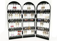متعدد الأبواب البلاستيك القرط عرض حامل حامل رف للمجوهرات أقراط هدية الحرفية 1 قطعة / الوحدة DS8