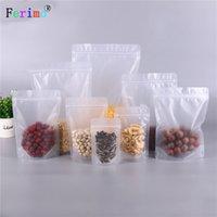 100pcs Frosted sacchetto trasparente autosigillante imballaggi alimentari bevande frutta secca castagno bustina di tè sacchetto del fiore