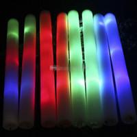 LEDカラフルなロッドLEDフォームスティックフラッシュフォームスティック、軽い応援グローフォームスティックコンサートライトスティックEMS K0214