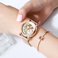 Haiqin montres pour dames habillées femmes montres haut montre-bracelet sport de luxe de la marque en cuir mécanique montre de mode relogio Feminino V191217