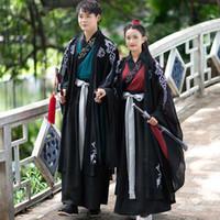 Stage Wear Coppie Costume Antico Abbigliamento tradizionale cinese Hanfu Performance per adulti Donne da donna Abito da uomo Festival Outfit DN4906