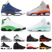 13 Erkek Basketbol Ayakkabı Kara Kedi Melo Sınıf 2002 Ada Yeşil Bred 13s OF Erkek Eğitmenler Atletizm Flint Spor Sneakers
