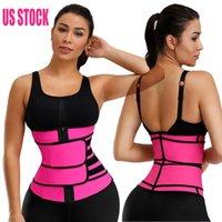 US-Stock-Frauen Neopren Sauna Weste-Körper-Former Taille Trainer Mode Workout Formwäsche Adjustable Sweat-Gurt-Korsett 8084