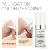TLM 30ml 색상 변경 액체 재단 오일 컨트롤 컨실러 크림 수분 소화기 장기 메이크업 파운데이션베이스 BB TSLM1