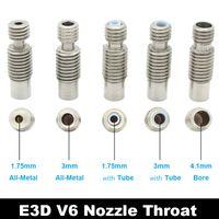Peças de impressora 3D E3D V6 Bicos de Aço Inoxidável Garganta, Metal / F4 Tubo / Bore 4.1mm para 1.75mm 3mm Extrusora Hot End J-Head