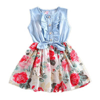 Girls Dress Summer Girl Flower Dress Baby Sleeveless Dresses...