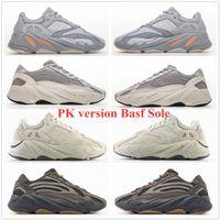 PK Versión BASF 700 Sal corredor de la onda inercia Geode V2 estático de malva con la caja de los zapatos corrientes de las mujeres para hombre de la zapatilla de deporte de Kanye West Deporte zapato