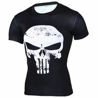 2018 Punisher Skull 3D T Shirt Hommes Compression Shirt Hommes Séchage Rapide Sport Shirt Bodybuilding Running T Shirts Hommes Fitness Gym Haut