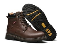 Fashion Men leather high outdoor boots Climbing Shoes active...
