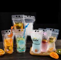 DIY dirnk Selbst versiegelten Plastikgetränkebeutel gedruckt Getränk-Behälter-Beutel Fruchtsaft Selbst versiegelt Aufbewahrungstasche FFA357 Außentaschen