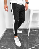 Striped Loose Mens Pants Regular Fitness Trousers Trend Slim...