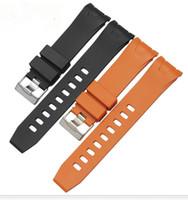 مربط الساعة 20mm خ 22mm و دبوس الأسود البرتقال الأشرطة الفولاذ المقاوم للصدأ لأوميغا 2901.50.91