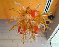 Mão fundida de vidro Lustre Luz Arte Moderna de vidro Iluminação Estilo de vidro Lâmpadas LED Candelabro por Sala Decoração