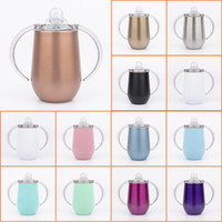 10oz sippy cup with handle stainless steel Kids tumbler baby...