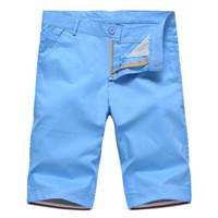 WOQN Şort Erkekler 201Summer Günlük Şort Erkekler Moda Pamuk İnce Masculina Erkekler Plaj Bermuda Pantolon Diz Boyu