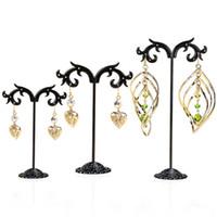 New Fashion Black Jewelry Shelf Display Rack Stand Holder Orecchini Ear Stud Metallo Organizzatore di stoccaggio Vintage Exquisite Gifts Boutique Tree