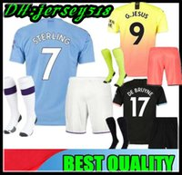 19 20 Manchester kids Soccer Jerseys 2019 2020 camiseta RODRIGO KUN AGUERO STERLING city MAHREZ child boys FOOTBALL shirts