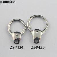 KUNAFIR 316L monili dell'acciaio inossidabile DIY che trovano Componenti zucca chiave forma fibbia fibbie accessori del gancio parti 10pcs per lotto ZSP434 / ZSP435