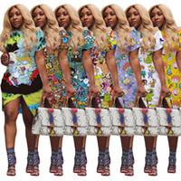 Damen Designer Ein Stück Kleid Kurzarm Sommerrock über Knie Bodycon Casual Kleider Elegante Luxus Clubwear Frauen Kleidung 3755