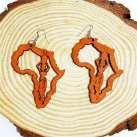 Европа и соединенные штаты африка преувеличены уличный хипстер геометрические круглые деревянные большие серьги мода деревянные серьги уха ювелирные изделия