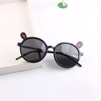 جديد الراتنج إطار EAR CUTE الاستقطاب النظارات الشمسية الفتيان والفتيات الطفل في الهواء الطلق المضادة للأشعة فوق البنفسجية نظارات جميلة الاطفال النظارات الشمسية
