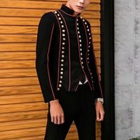 Trajes para hombres Blazers Blazers Soporte de plomo Autocultivo Túnica China Traje de viento Vestido completo Blazer Masculino Abrigo suelto Regla de manga larga Negro