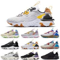 HOTSALE Reagieren Vision-Laufschuhe D MS X Männer Frauen des chaussures Triple Black Iridescent Honeycomb Saffron Trainer Männer Sport-Turnschuhe