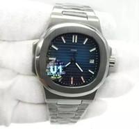 Reloj para hombre Dial azul Transparente Transparente U1 Movimiento de fábrica grabado Mecánico automático Mecánico Acero inoxidable Reloj de pulsera masculina
