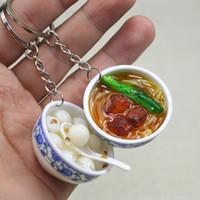 Mini Simulation Food Schlüsselanhänger Cute Car Bag Schlüsselanhänger Mini Bowl Food 40 Design für Frauen Tasche Charme Schlüsselanhänger Mujer Schmuck