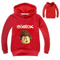 Cartoon Roblox Hoodies Sweatshirt T-shirt Enfants Garçons Filles Sweat Vêtements Enfants Pulls à capuche Tees À Manches Longues Survêtement Casual Y190516