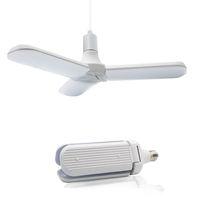 Lámparas Penas LED Bombilla de Hoja de Ventilador Plegable 95-265V 45W E27 Super Luces Súper Luces Ángulo Ajustable Ajustable Ahorro de Techo Ahorro de energía