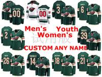 Minnesota Wild Formalar Charlie Coyle Jersey Ryan Donato Luke Kunin Anthony Bitetto Yeşil Beyaz Buz Hokeyi Formalar Özel Dikişli