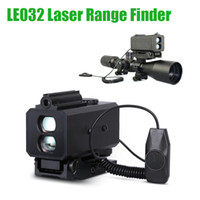 LE032 Mini laser Range Finder Tactical 700m DangeFinder con supporto per scope regolabile per la caccia al rannomino Rilfe per rotaia da 20 mm