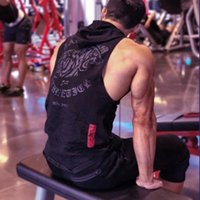 2019 New spring summer men' s hoodie fashion fitness hoo...