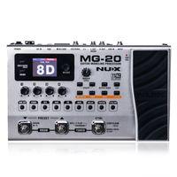 NUX MG-20 GUITAR MULTI-EFFEKTER AMP PEDAL Svart Digitech Multi Effects Modeling Processor Guitarra Loop / Volume