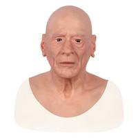 La desfiguración disfraz Auto Repair artificial realista de la cara de la piel humana para Cara máscara femenina Crossdresser Transgénero de silicona de Halloween