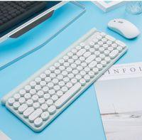 Teclado LT500 sem fio recarregável Mouse Set Jogo Office Keyboard Mute Mouse sem fio Teclado Mouse Combos DHL livre
