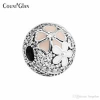 Sterling-Silver-Jewelry Beads Para Fazer jóias DIY Fit Pandora Pulseiras Perlas Encantos Blooms Clips Pooh Berloque Cabochão