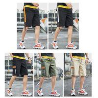 US Stock Men's Tooling Shorts Teen Casual Shorts Short Pants Sports Running Knee Length Summer Outdoor Fashion Pockets Male Shorts FY9111