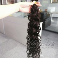 Noir Brown Remy 100g Afro Kinky Curly Corps Deep Wave Straight 4A 4B 4C Virgin Natural Ruban Naturel dans les extensions de cheveux humains