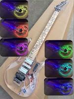 Bunte LED-Licht Acrylkörper elektrische Gitarre mit Floyd Rose Brücke, HSH Tonabnehmer, kann individuell angepasst werden