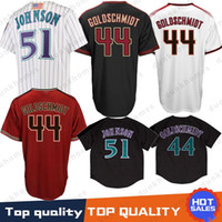 Genähte Arizona Baseball Jersey Diamondbacks 44 Paul Goldschmidt 51 Randy Johnson Stickerei Logos