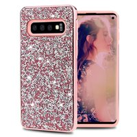 Premium Bling 2 strati di lusso diamante strass Glitter Phone Case per iPhone XR XS MAX X 8 7 6 Samsung S10 Plus S10e